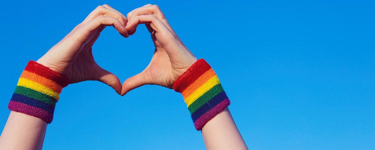 LGBTQ heart hands