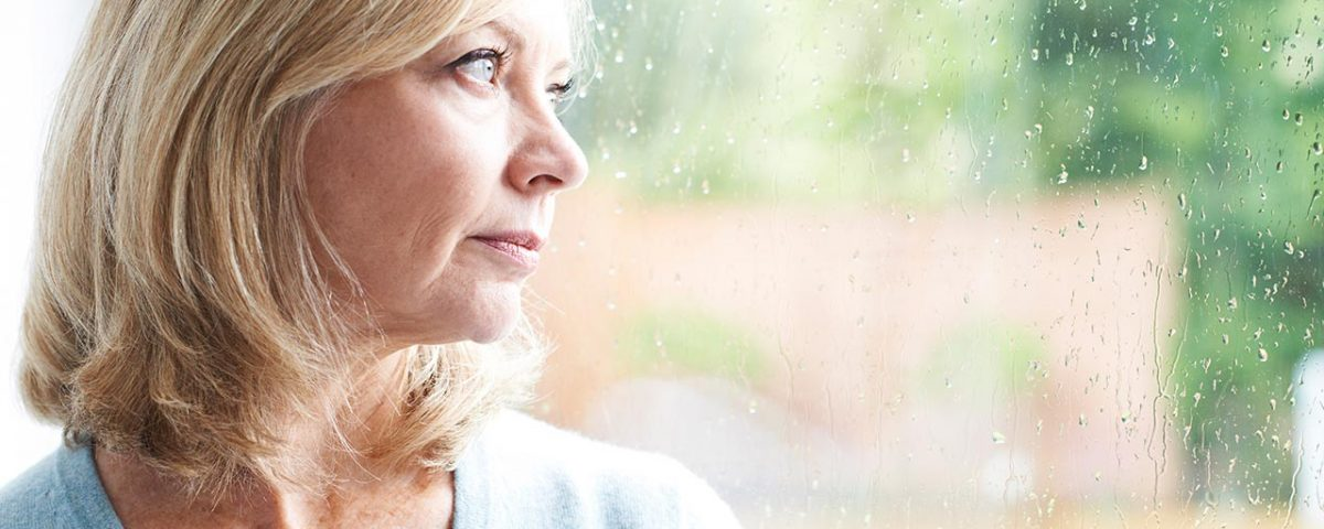 woman with menopause depression